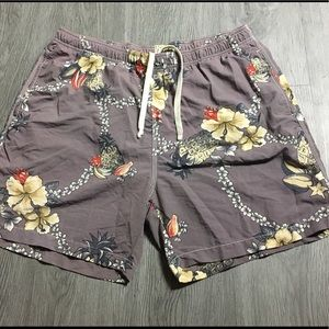 Tommy Bahama Relax Swim Trunks Floral Hawaiian L